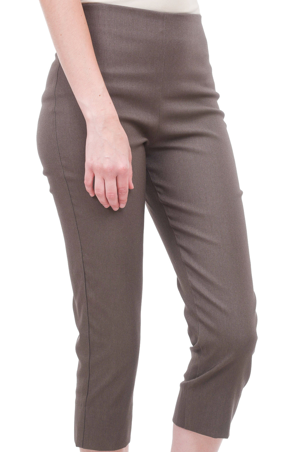 Equestrian Mindy Cropped Pant, Taupe