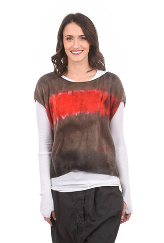 Love Tanjane Cashmere S/L Boxy Sweater, Deep in Red