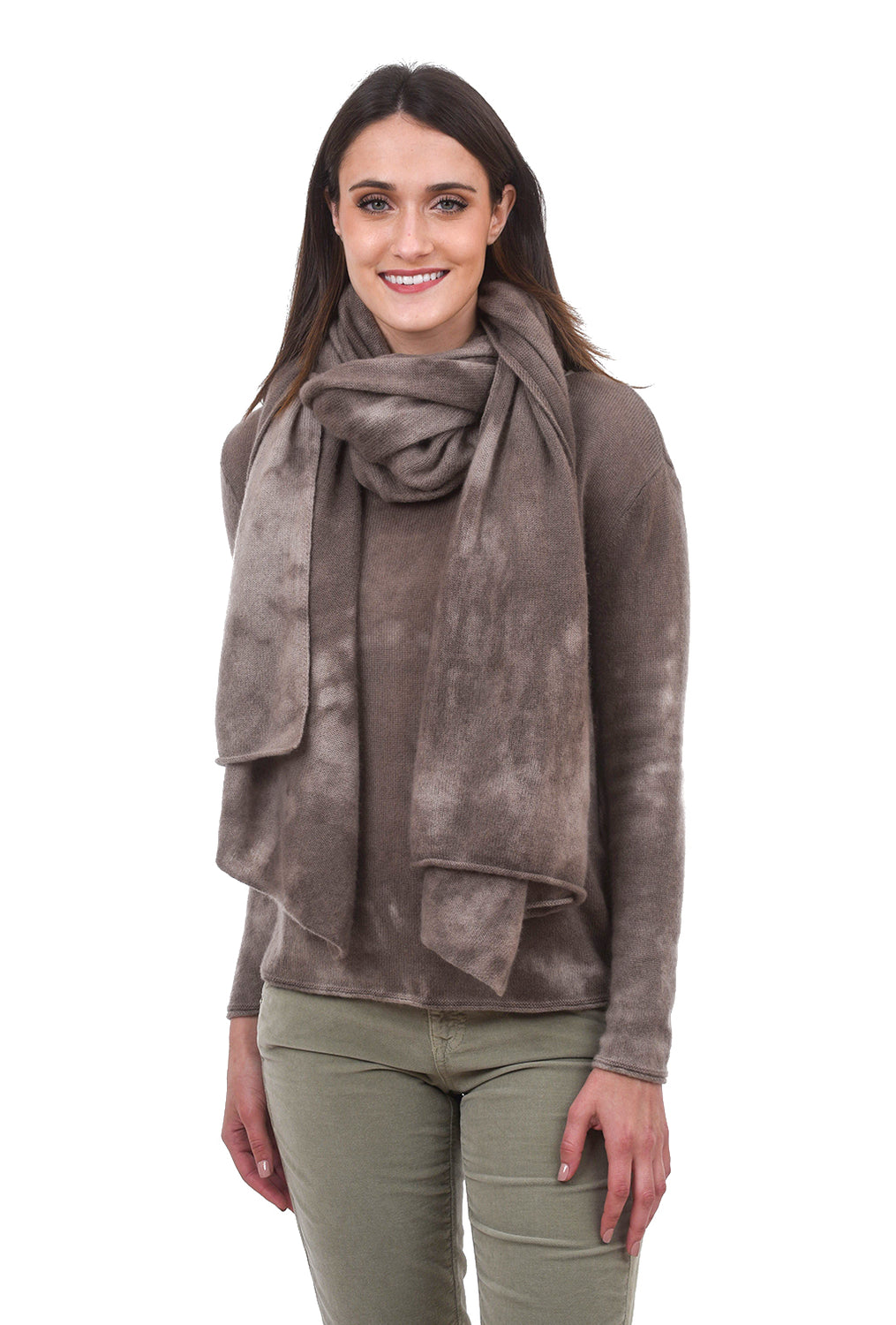Love Tanjane Tie-Dye Cashmere Wrap, Oak One Size Oak