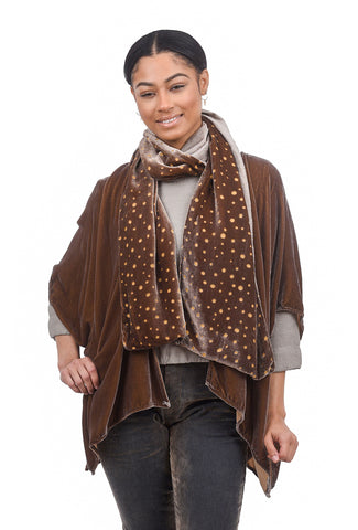 Cut Loose Velvet Burnout Dot Scarf, Stonewall One Size Stonewall