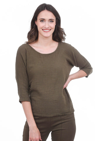 Prairie Underground Third Wave Top, Army