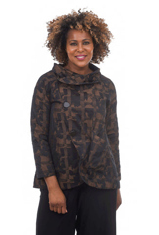 Liv by Habitat Print City Jacket, Chestnut