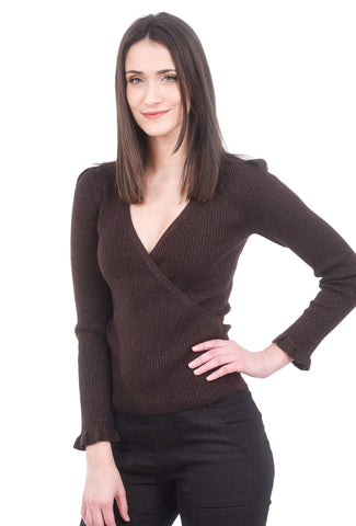 Margaret O'Leary Knits Fiona Sparkle Pullover, Chocolate