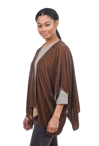 Cut Loose Velvet Shawl Cardie, Stonewall One Size Stonewall