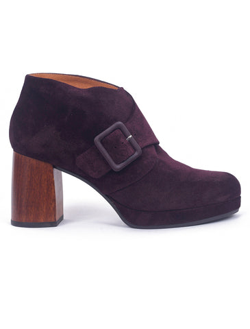 Chie Mihara Quirina Buckle Booties, Grape
