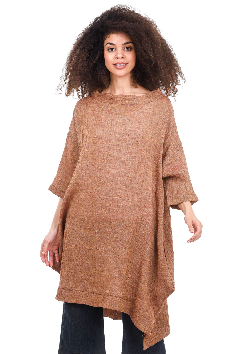 M Square Toga Dress, Clay Flame One Size Clay