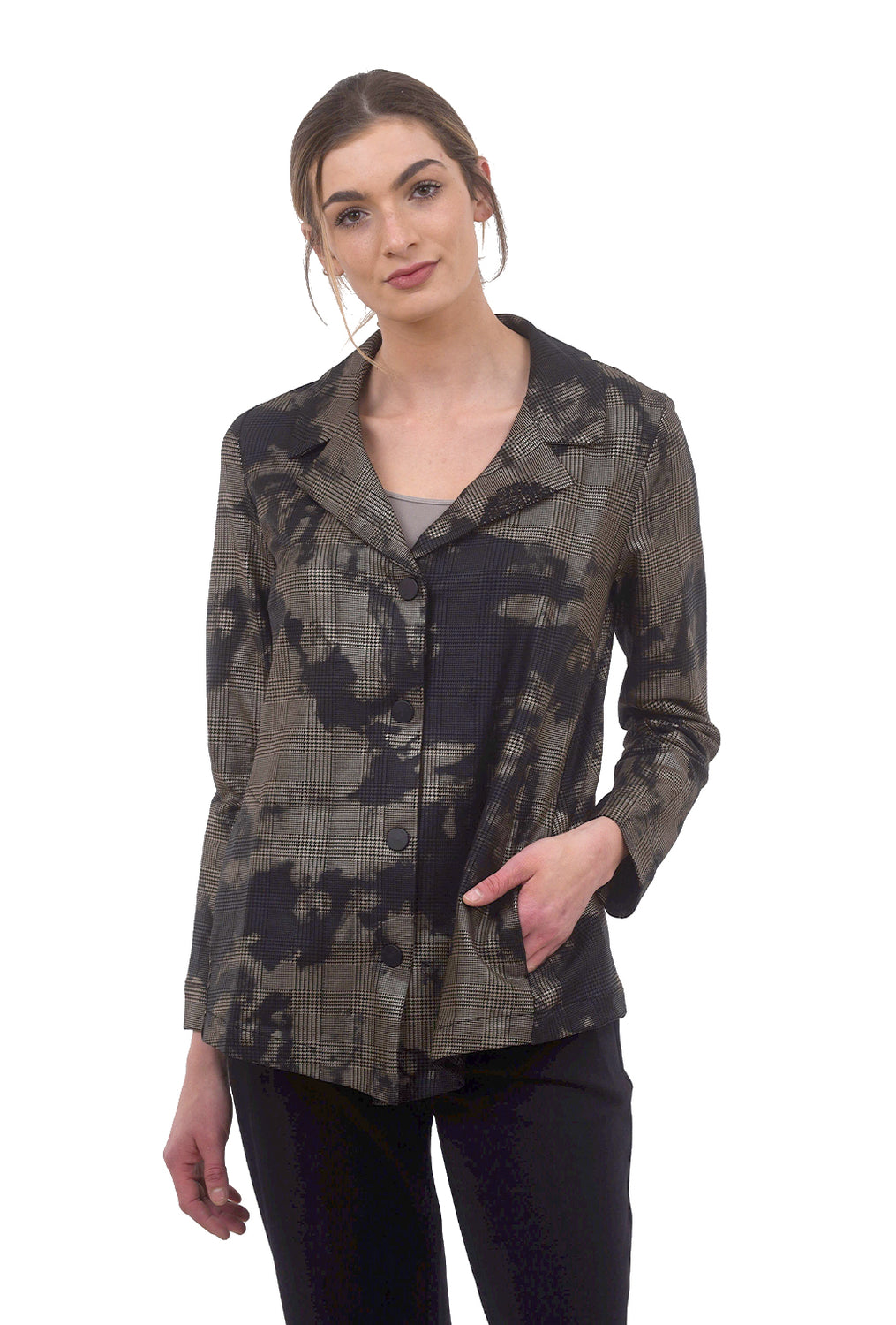 Alembika Splatter Plaid Jacket, Bronze