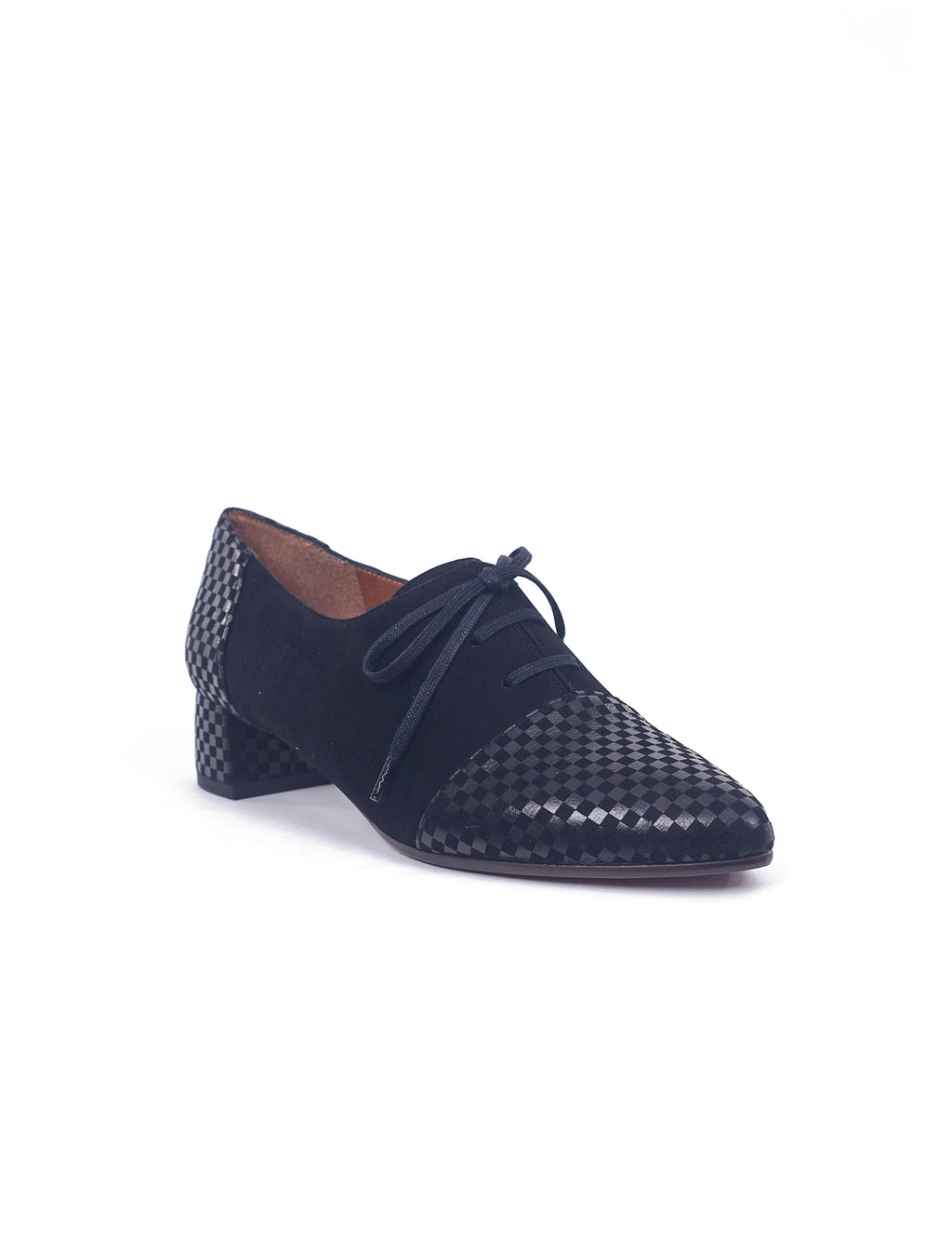 Chie Mihara Roly Pointed Oxfords, Black