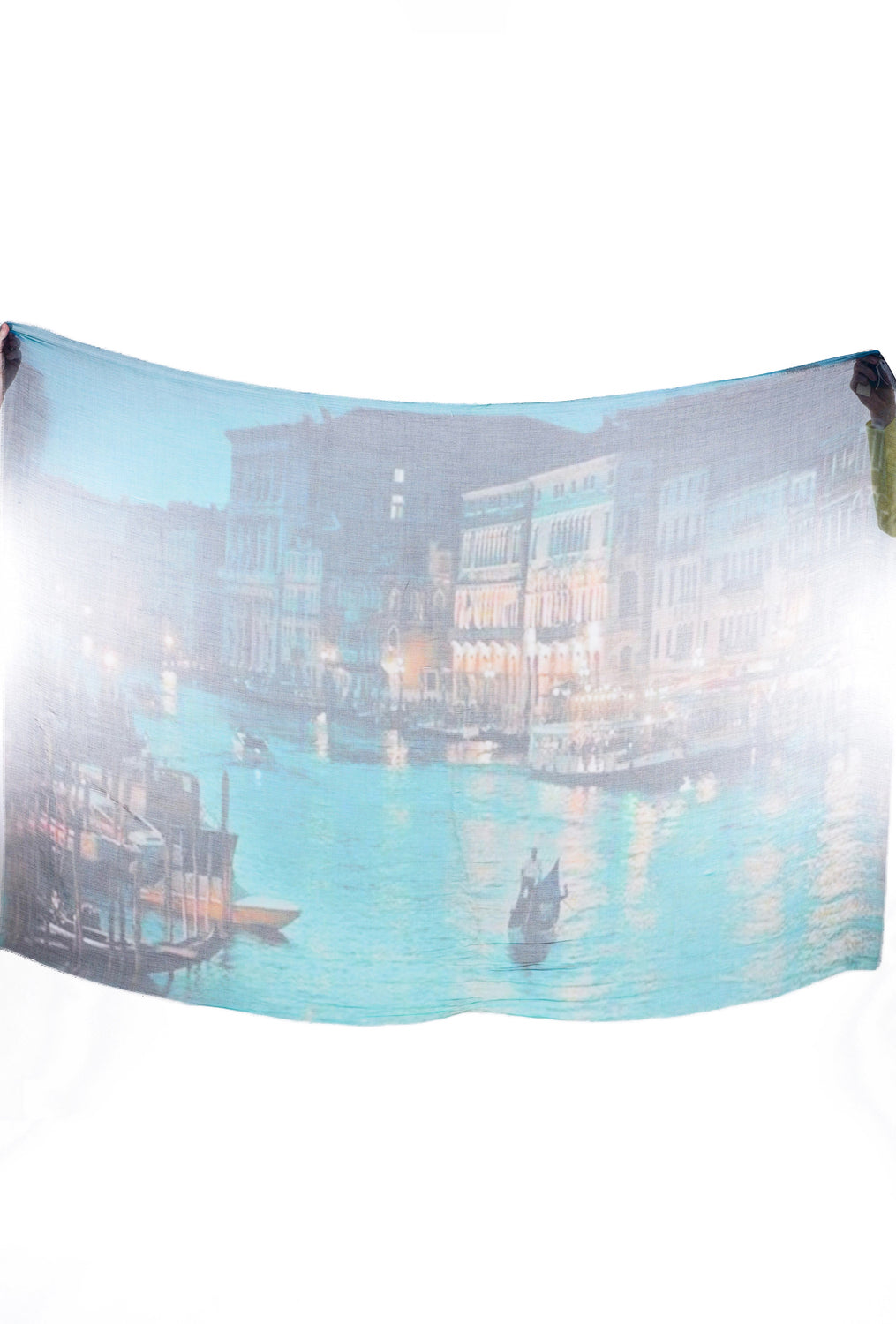 Blue Pacific Vintage Artisan Scarf, Venice Canal