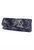 Kim White Baguette Clutch, Black Metallic