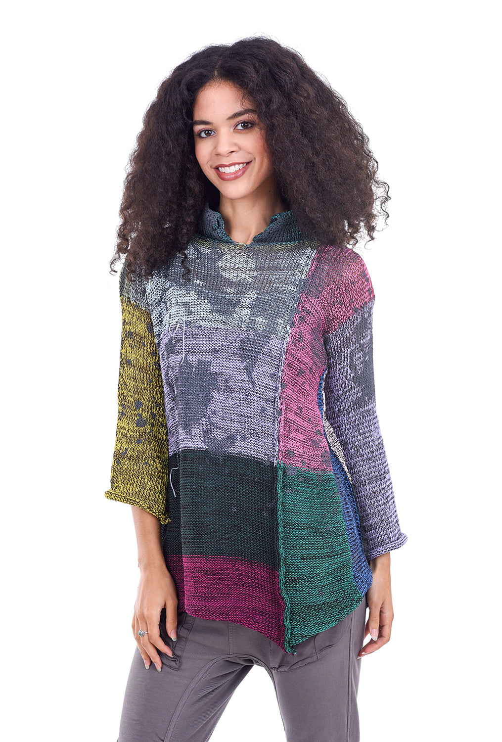 Skif International Art Print Sister Sweater, Multi Brights One Size Multi