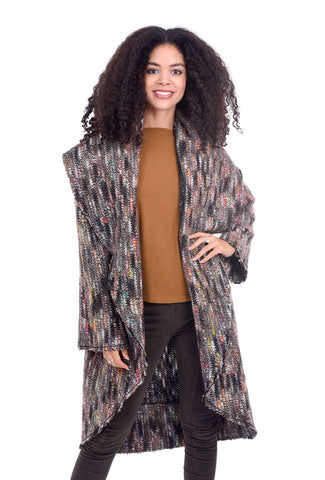 Bryn Walker Frankie Wrap Coat, Multi Yarns