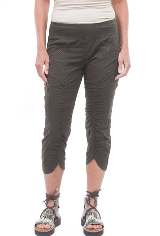 XCVI Iris Crop Pants, Hex Green