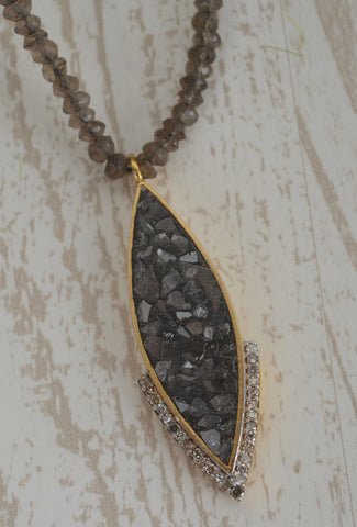 Shana Gulati Ameerah Necklace, Smoky Quartz One Size Smoky Quartz
