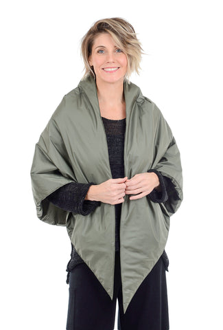 Kedziorek Puffer Cape, Green One Size Green