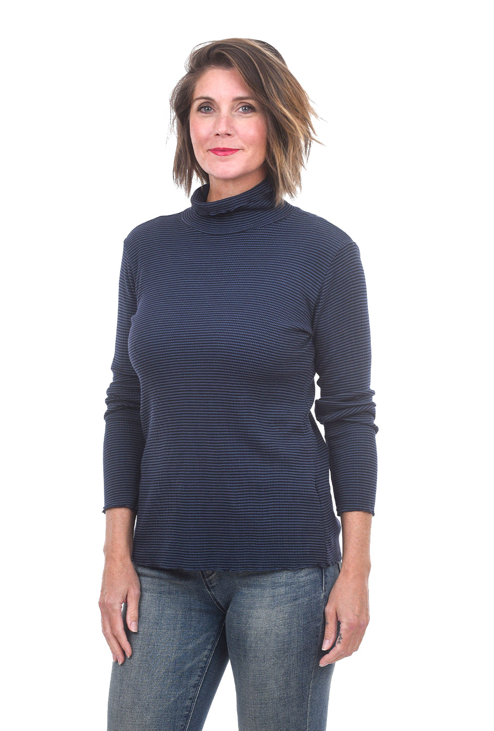 Cut Loose Trim Thermal Tneck, Blue Moon