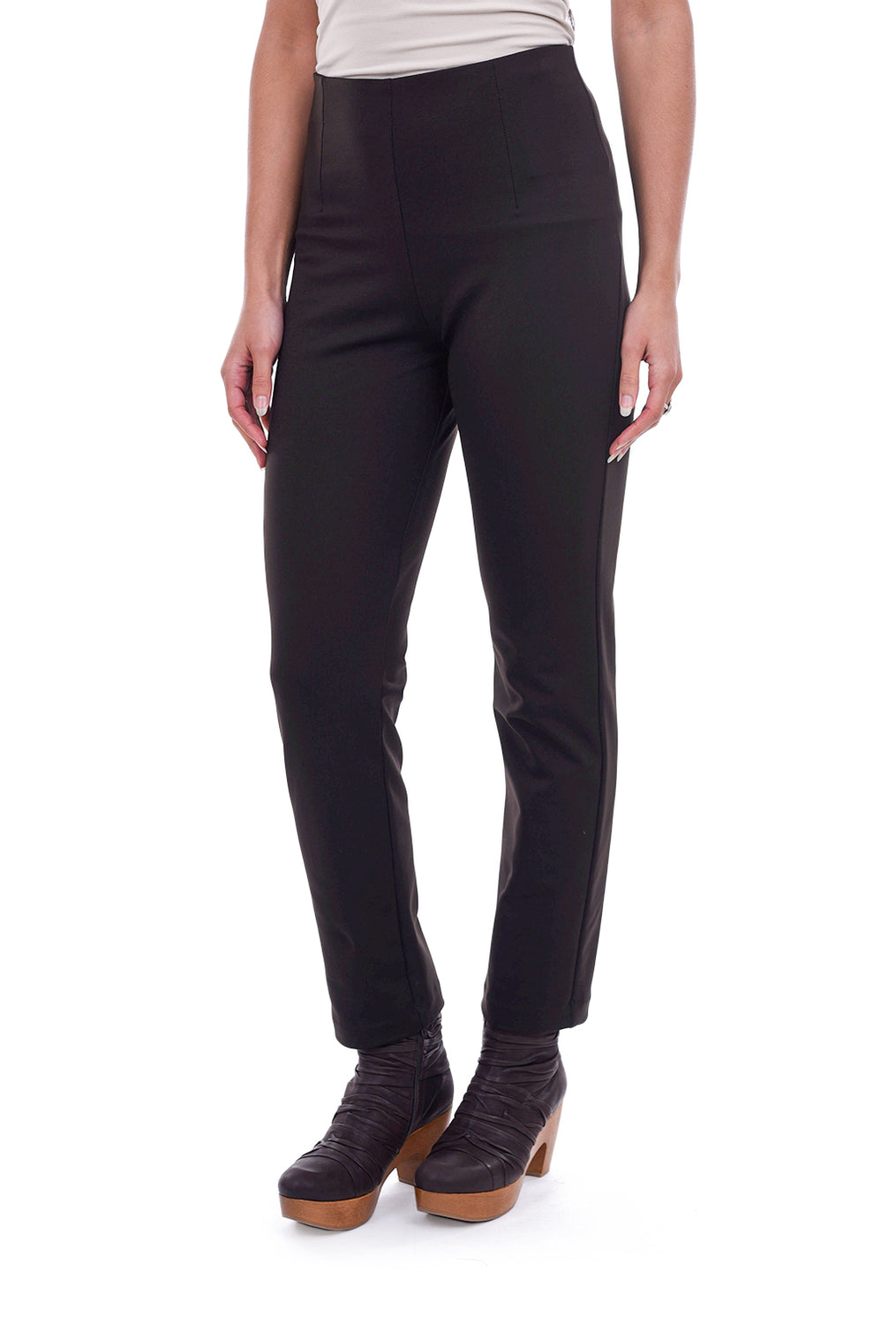 Equestrian Zani Ponte Tech Pant, Coffee Brown