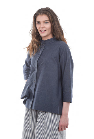 Two Danes Chance Cotton Stripe Top, Dark Navy