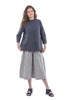 Two Danes Thyme Cotton Culottes, Sea Blue/Cream