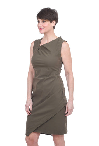 Porto Fortnight Dress, Army