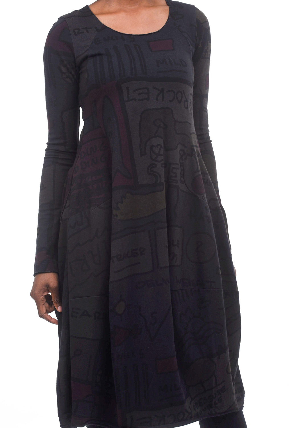 Rundholz Black Label Symbols Jersey Shapely Dress, Multi Print