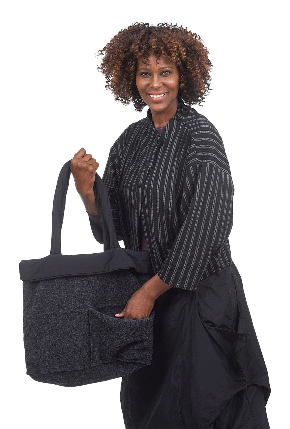 Luukaa Bonnie Puffer Handbag, Anthracite One Size Anthracite