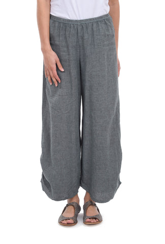 Cut Loose Crosshatch Ruched Pants, Flagstone