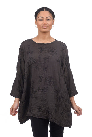 Cut Loose Embroidered Parachute Pullover, Pavement One Size Pavement