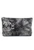 Kim White Ring Clutch, Smokey Metal