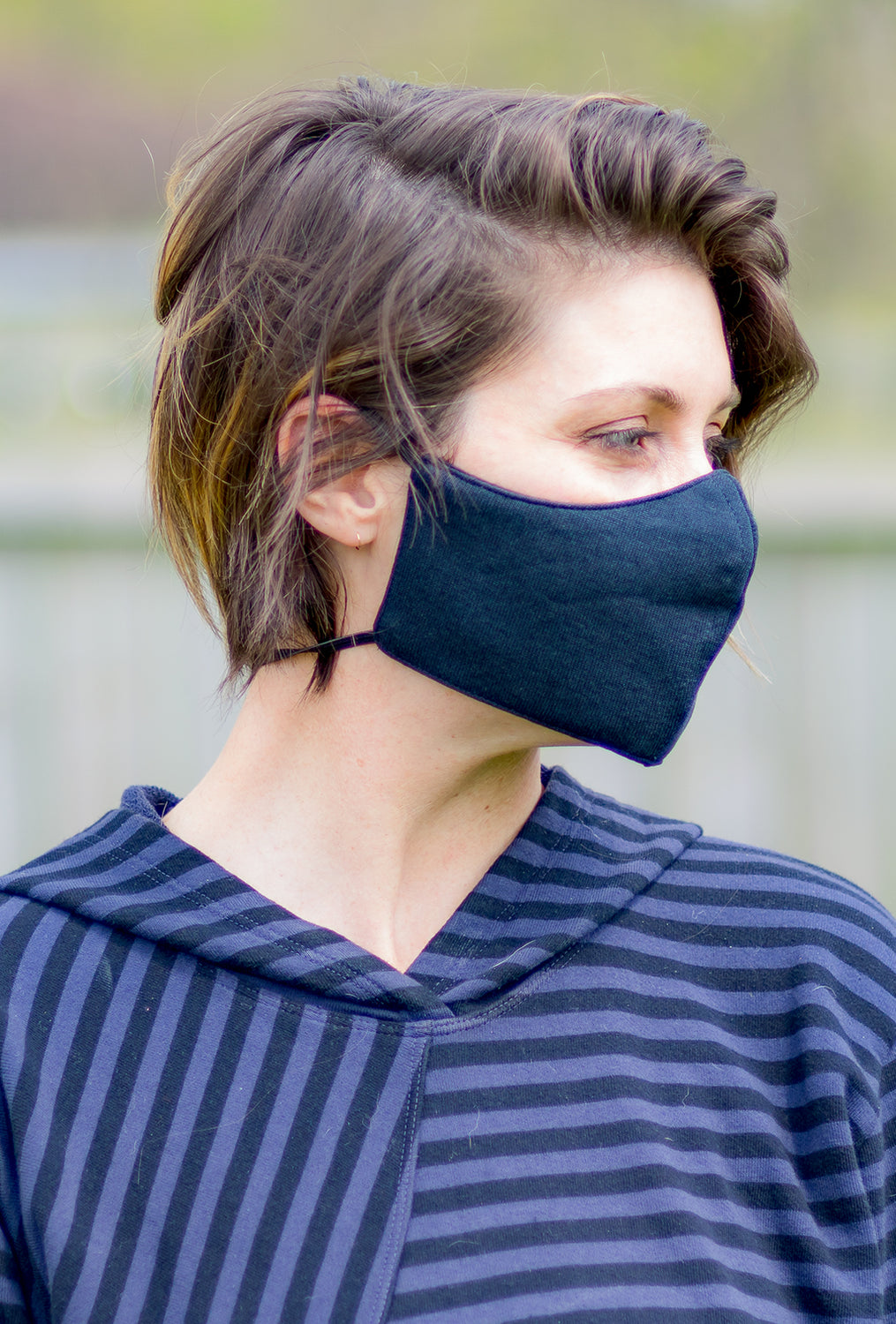 Color Me Cotton CMC Solid Face Mask, Black