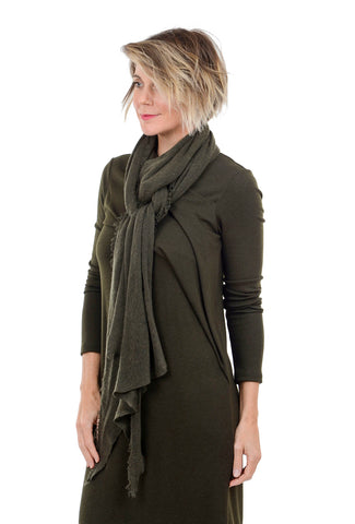Grisal Cashmere 'Love' Scarf, Khaki Green One Size Green