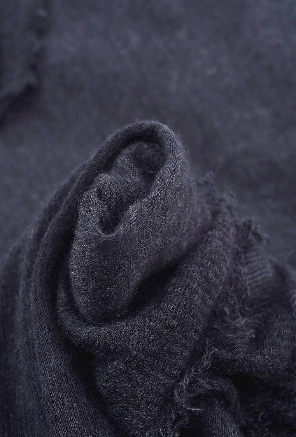 Grisal Cashmere Love Scarf, Black/Charcoal Stripes One Size Charcoal