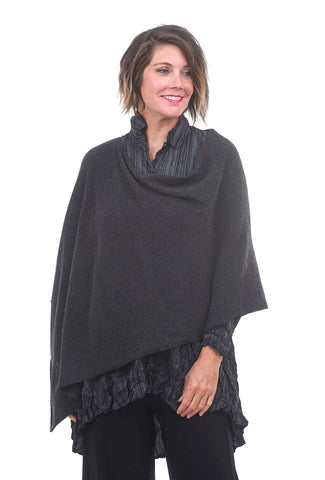 In Cashmere Cashmere Ruana, Heather Charcoal One Size Charcoal