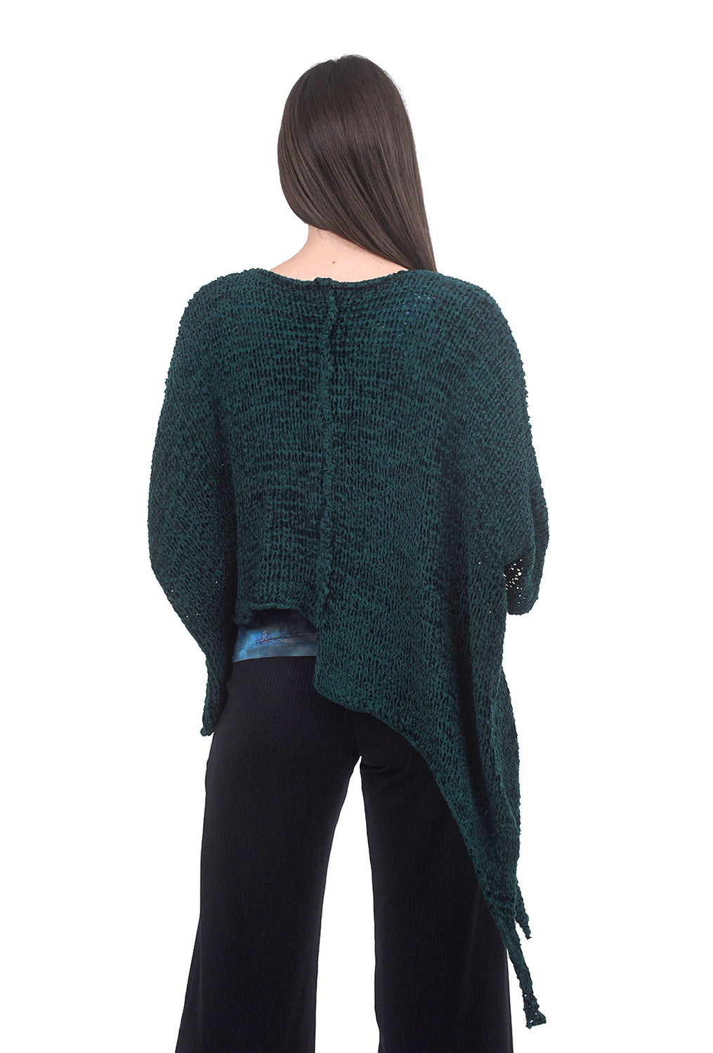 B&K Moda Textural Amorphous Pullover, Jade One Size Jade