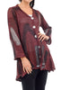 Skif International V Five-Button Cardie, Merlot Brush
