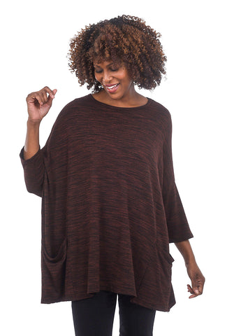 Cut Loose Marled Oversized Pullover, Cognac One Size Cognac
