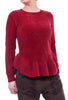Hem & Thread Peplum Sweater Top, Red