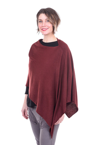 Kerisma Knits Eden Poncho, Mulberry One Size Mulberry