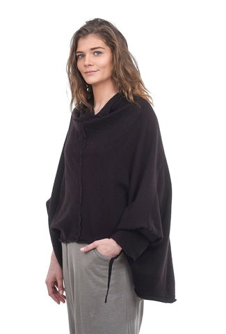 Rundholz Collection Spring Cashmere Cropped Cowl, Brown One Size Brown