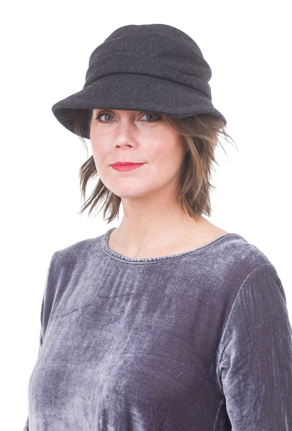 Lillie & Cohoe Hats Phoebe Wool Classic Hat, Midnight