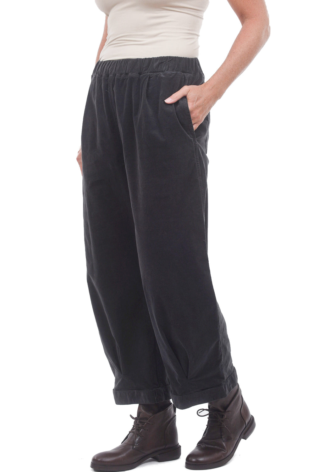 Cut Loose Mini-Cord Pleated Pant, Pavement