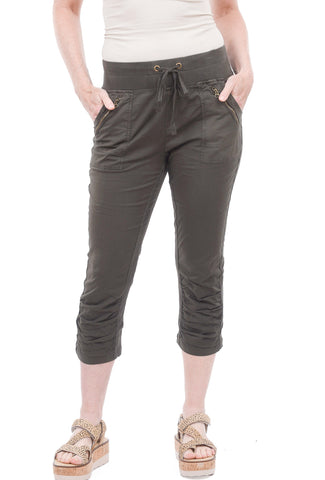 XCVI Highland Crop Leggings, Hex Green
