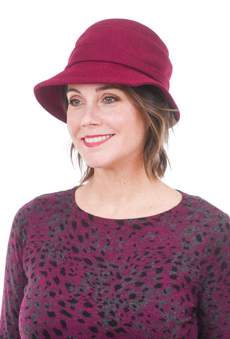 Lillie & Cohoe Hats Phoebe Wool Classic Hat, Wine