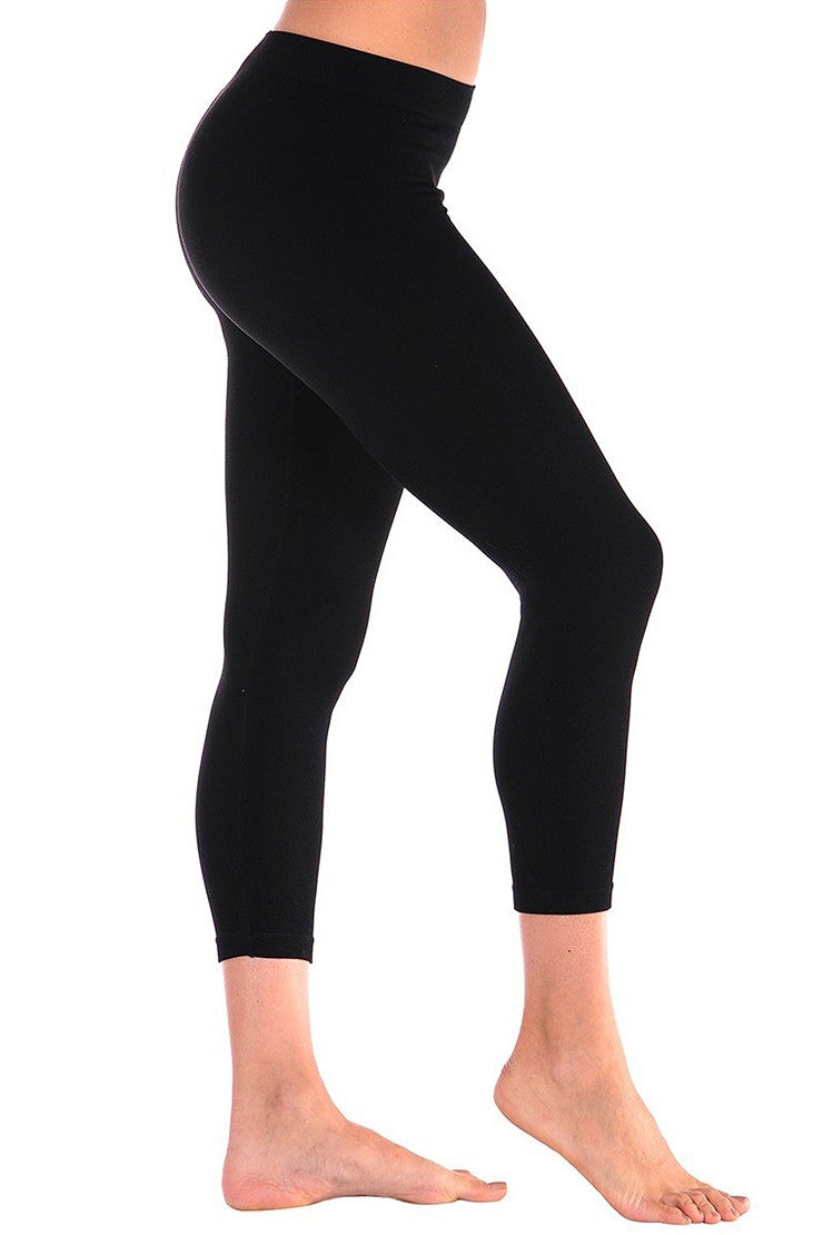 Tees by Tina MicroRib Capri Leggings, Multiple Colors
