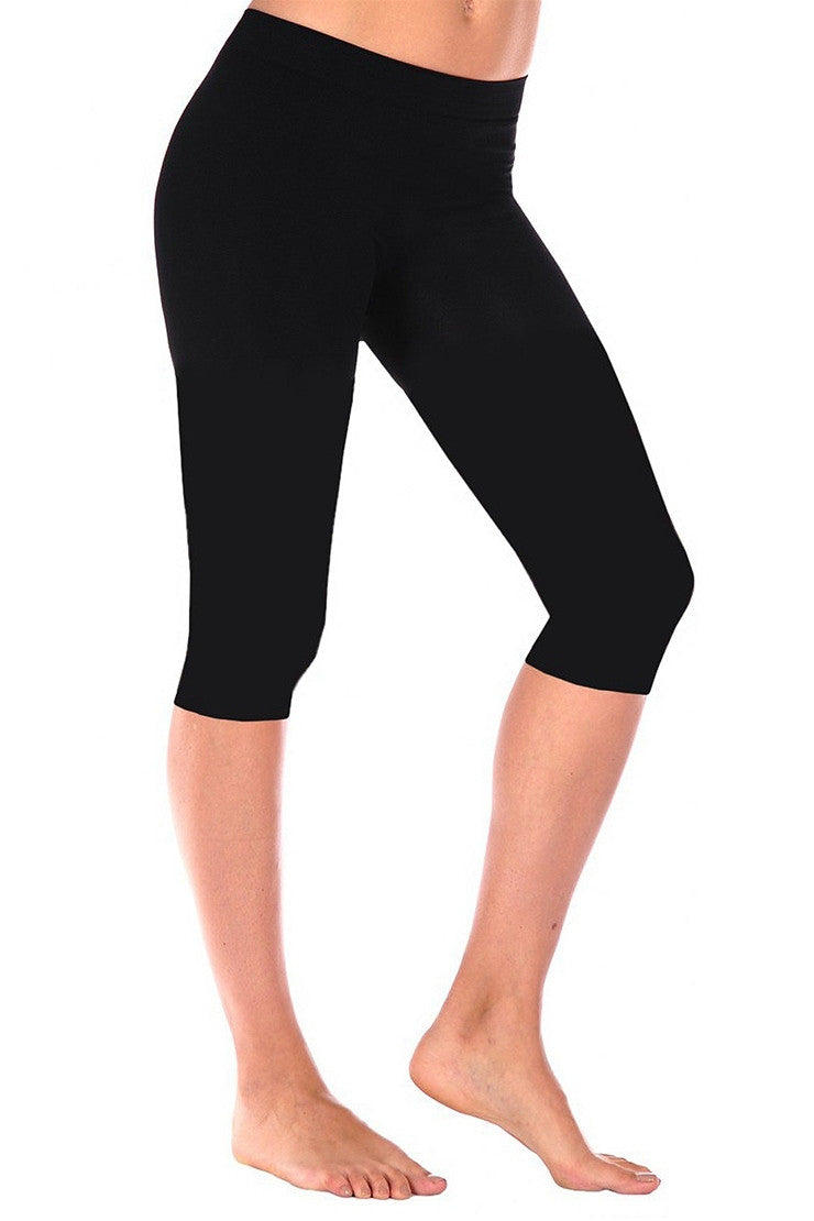 Tees by Tina Smooth Capri Leggings, Multiple Colors