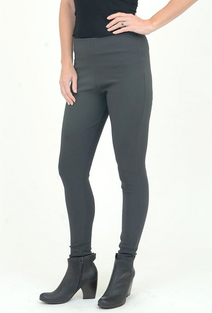 Equestrian Micro-Ribbed Deonna Legging, Steel
