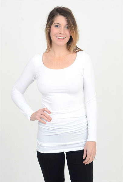 M. Rena L/S Favorite Layering Tunic, White