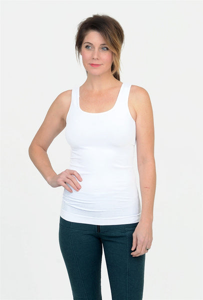 Tees by Tina Smooth Tank, White