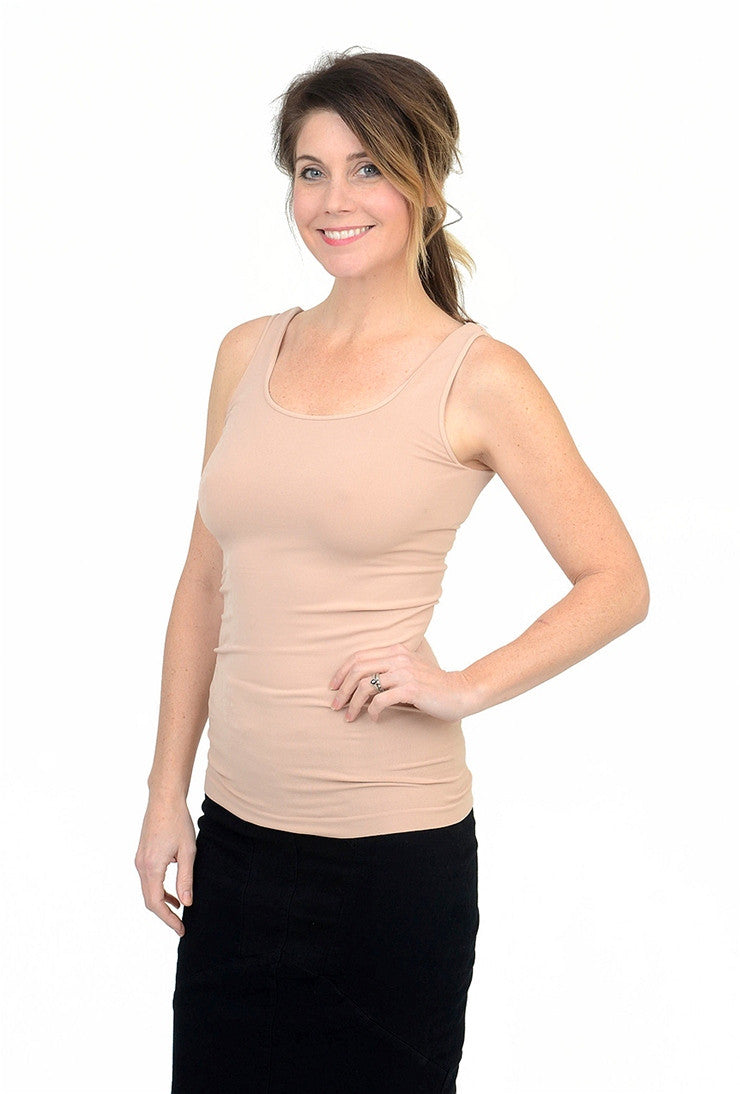 Tees by Tina Smooth Tank, Bare One Size Bare