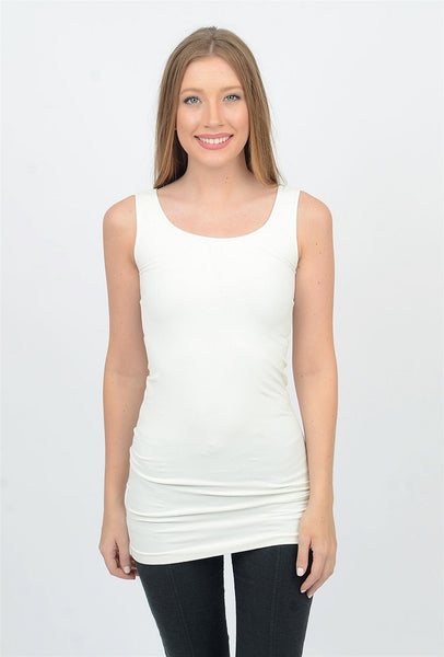 Tees by Tina Tank Tunic Slip Dress, Cream